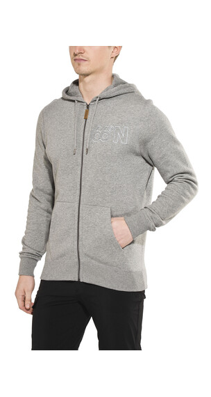 66° North Logn Zipped Sweater Men heather grey